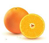 Fresh juicy oranges — Stock Photo