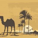 African desert — Stock Vector