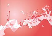 Spring flower background — Stock Vector