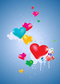 Colorful hearts Background — Vettoriale Stock