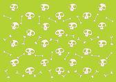 Funny skulls background — Stock Vector