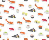 Sushi Pattern — Stock Vector