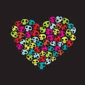 Funny skulls — Stock Vector