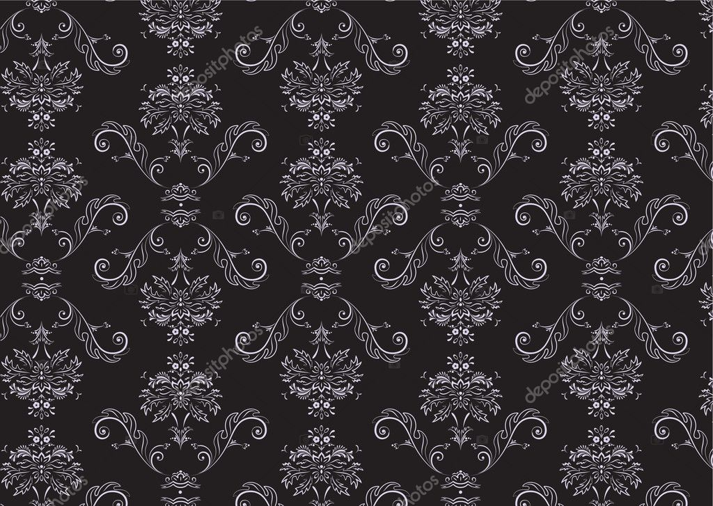 Vector illustration of elegant Victorian retro motif wallpaper Pattern — Stock Vector #5881717