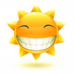 Happy summer sun — Stock Photo