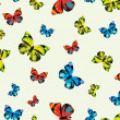 Funky  butterflies - Stock Vector