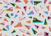 很酷的手绘运动鞋子 — 图库矢量图片
