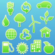 eco icons — Stock Photo