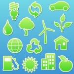 Eco ikoner — Stockfoto