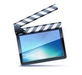 Film clapper kurulu — Stok fotoğraf