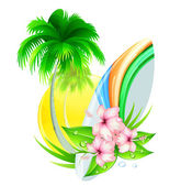 Summer insignia — Stock Photo