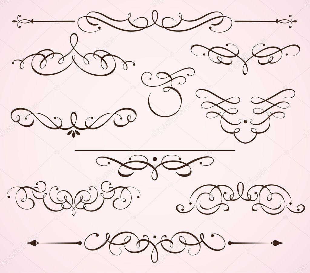 Decorative floral elements stock photo ladyann 6198070 for Decoration elements