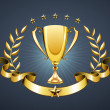 Golden trophy — Stock Photo