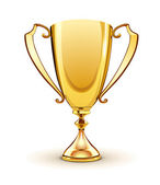 Golden trophy — Stock Photo