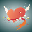 Funky red heart — Image vectorielle