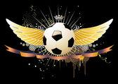 Fotboll emblem — Stockvektor