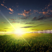 Nature landscape and the sunset — Stockfoto
