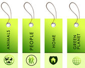 Light green tags with inscriptions — Stock fotografie