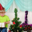 Little boy getting ready for the holiday — Stock Photo #5450716