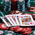 放置一个扑克玩家 — 图库照片