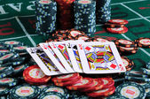 Place a poker player — Stockfoto