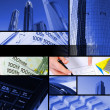 Collage from financial elements — Stock Photo
