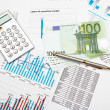 Financial charts and graphs — Stock Photo #5487199