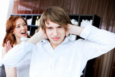 Couple in disagreement at home — Stock Photo