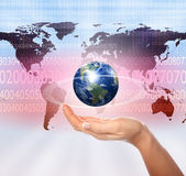 Hands holding planet — Stock Photo