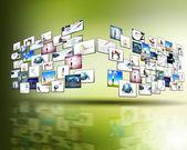 Secuencia de los medios de comunicación de alta tecnología — Foto de Stock