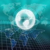 Wereld kaart illustratie — Stockfoto