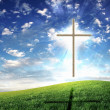 Christian cross against the sky — Stock Photo #5634746