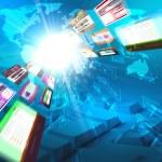 Abstract image of media streams — Stock Photo