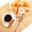 Breakfast coffee and croissants — Stock Photo #5682136