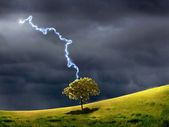 Thunderstorm and lighting — Stock Photo