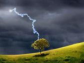 Thunderstorm and lighting — Stock Photo