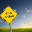Road sign of risk ahead — Stock Photo #5693514