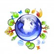 Planet earth with plants and trees — Stock Photo #5722542
