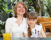 Young mother with her little daughter — Stock Photo