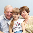 Grandparents and granddaughter - Foto Stock