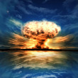 Stock Photo: Nuclear explosion in outdoor setting