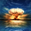 Nuclear explosion in outdoor setting — Stock Photo #5744393