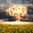 Nuclear explosion in an outdoor setting — Stock Photo #5744407