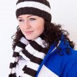 Young pretty woman wearing hat - Stock Photo