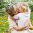 Girl with mother in the park — Stock Photo