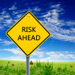 Road sign of risk ahead — Stock Photo #5746015