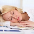 Young business woman asleep — Stock Photo