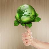 Zielony ziemia z uprawy roślin — Zdjęcie stockowe