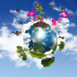 Royalty-Free Stock Photo: Earth with the different elements