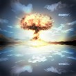 Постер, плакат: Nuclear explosion in an outdoor setting